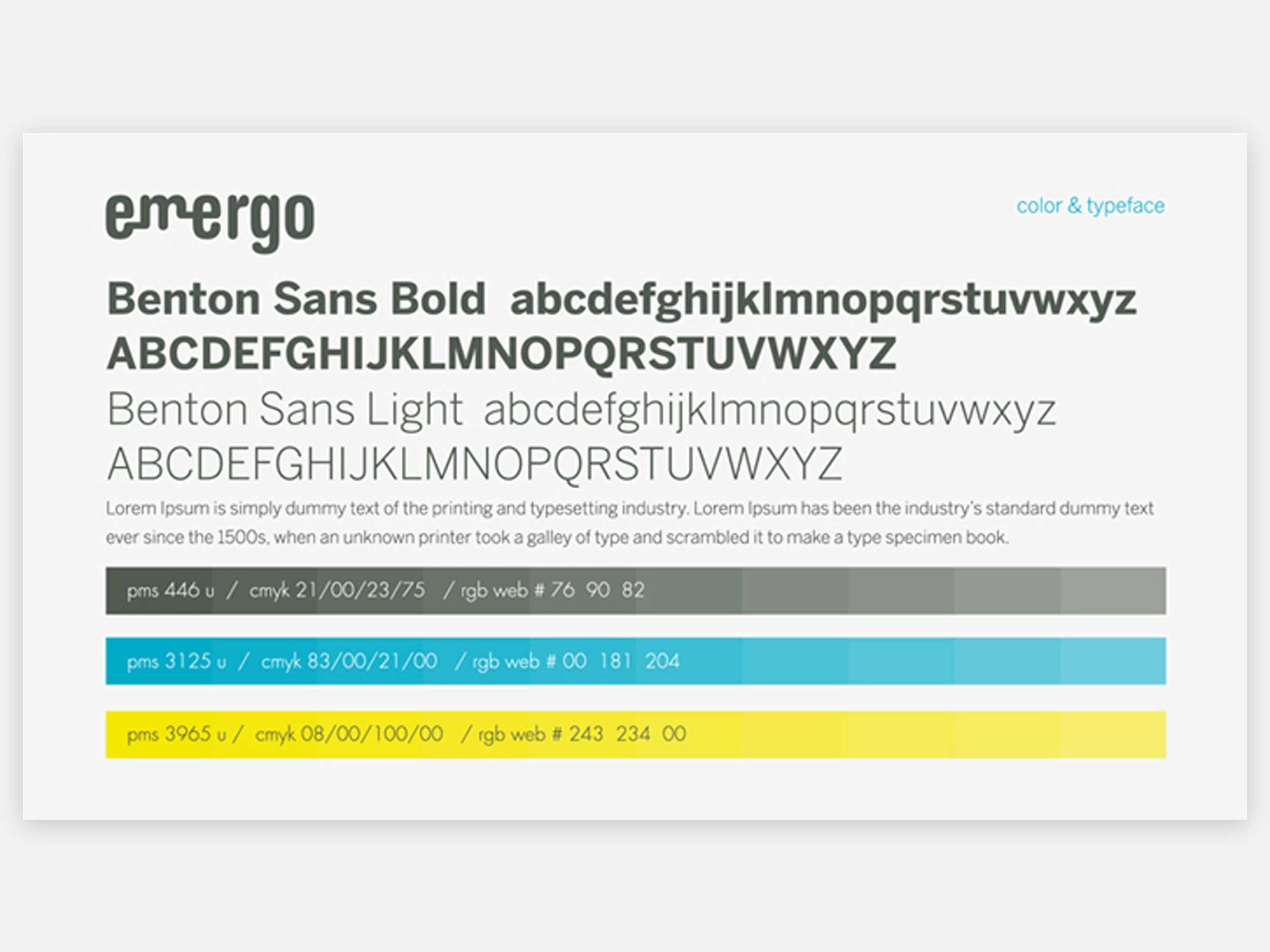 e-mergo kleur en typografie