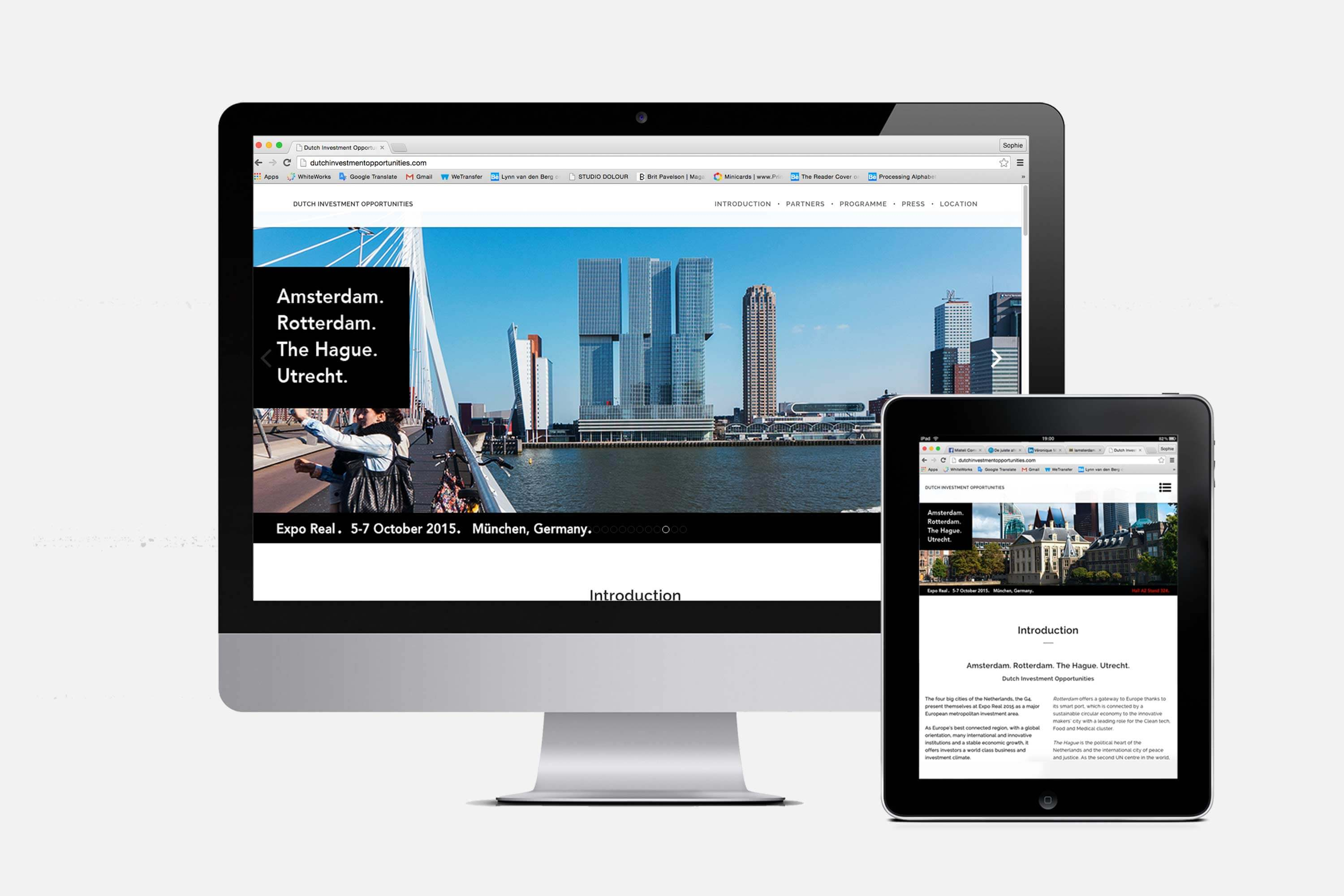 Expo Real 2015 Responsive Website